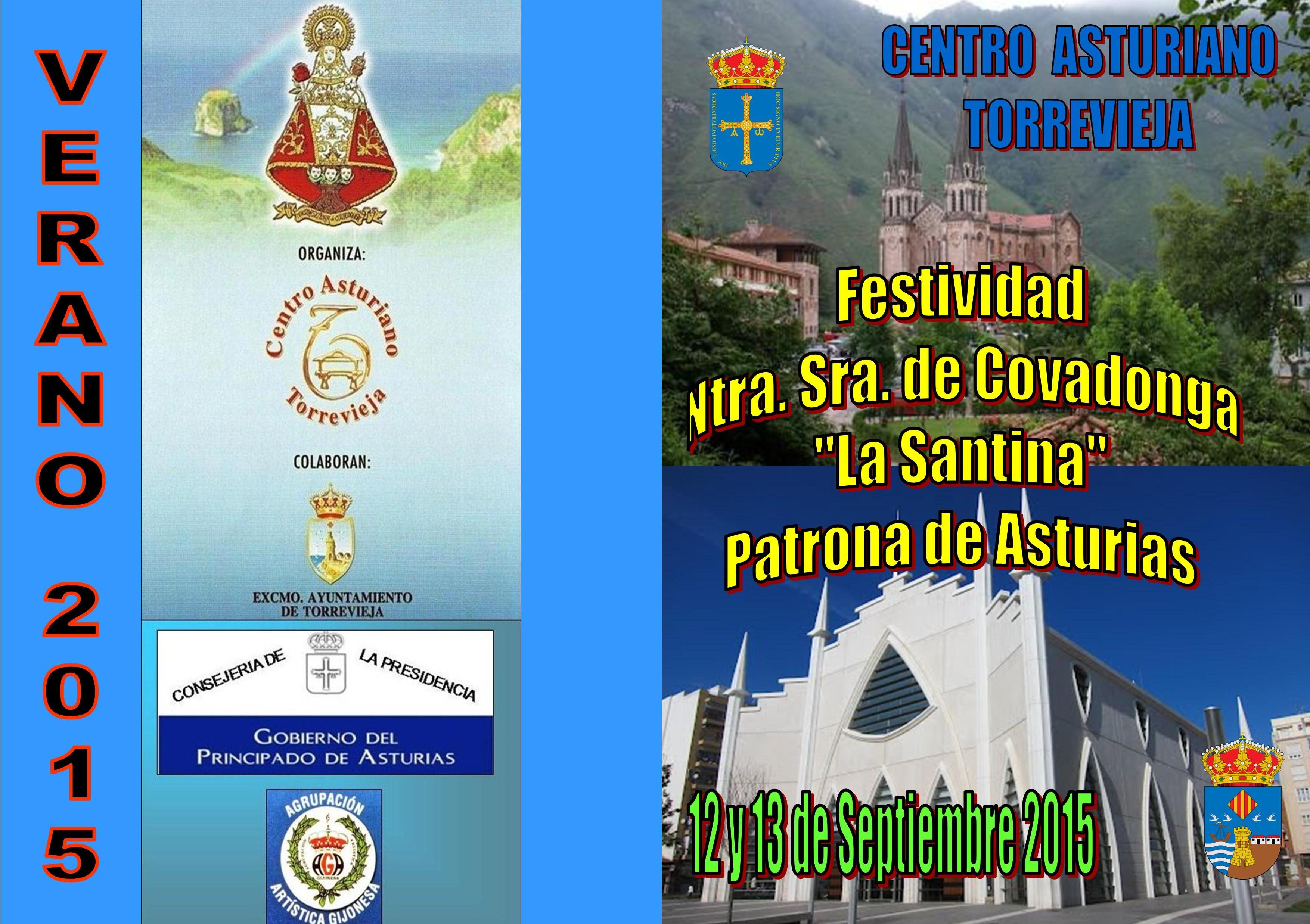 PORTADA Y CONTRAPORTADA PROGRAMA SANTINA 2015